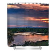 Sunset On The Payette  River Shower Curtain
