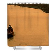 Sunset On The River Bend Shower Curtain