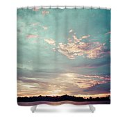 Sunset On The River In The Peruvian Amazon Jungle Shower Curtain