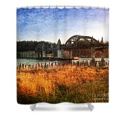 Sunset On The Siuslaw River Shower Curtain