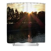 Sunset On The Volga River Shower Curtain