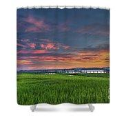 Sunset On The Wando Shower Curtain