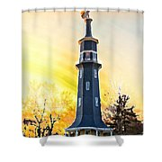 Sunset On The Windmill Shower Curtain