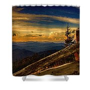 Sunset On Top Of Mount Mitchell Shower Curtain