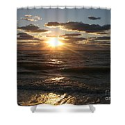 Sunset On Venice Beach  Shower Curtain