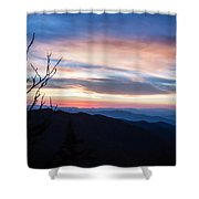 Sunset On Water Rock Knob Blue Ridge Parkway Scenic Photo Shower Curtain