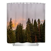Sunset On West Beckwith Peak Shower Curtain
