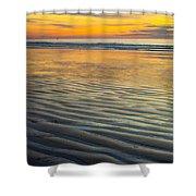 Sunset On Wet Sandy Beach Seascape Fine Art Photography Print  Shower Curtain