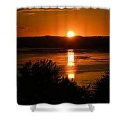 Sunset On Winnesheik Shower Curtain