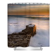 Sunset Over A Rough Sea II Shower Curtain