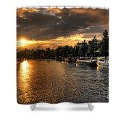 Sunset Over Amsterdam  Shower Curtain
