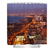 Sunset Over Arica Chile Shower Curtain