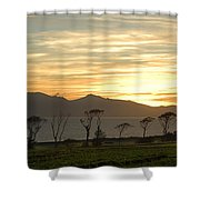 Sunset Over Arran Shower Curtain