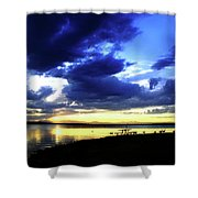 Sunset Over Aurora II Shower Curtain