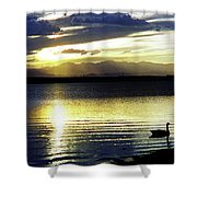 Sunset Over Aurora Shower Curtain