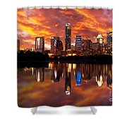 Sunset Over Austin Shower Curtain
