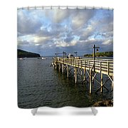 Sunset Over Bar Harbor Shower Curtain