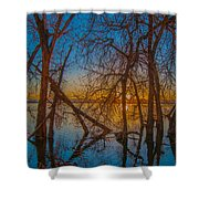 Sunset Over Barr Lake_2 Shower Curtain
