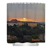 Sunset Over Budapest Shower Curtain