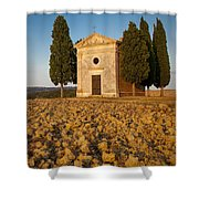 Sunset Over Cappella Di Vitaleta Shower Curtain