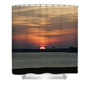 Sunset Over Charleston Harbor Shower Curtain