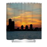 Sunset Over Chicago 0349 Shower Curtain
