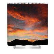 Sunset Over Estes Park Shower Curtain