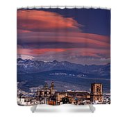 Sunset Over Granada And The Cathedral Shower Curtain