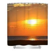 Sunset Over Gray's Beach Yarmouth Cape Cod Shower Curtain