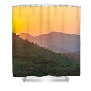 Sunset Over Hills Shower Curtain