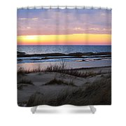 Sunset Over Ice Shower Curtain