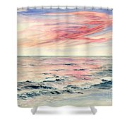 Sunset Over Indian Ocean Shower Curtain