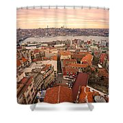 Sunset Over Istanbul Shower Curtain