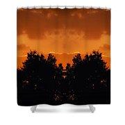 Sunset Over Jackson Michigan Mirror Image Shower Curtain