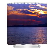 Sunset Over Korcula Shower Curtain