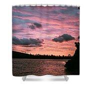 Sunset Over Lake Bailey Shower Curtain