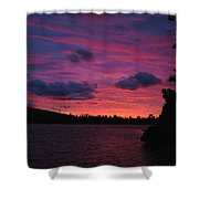 Sunset Over Lake Bailey Shower Curtain