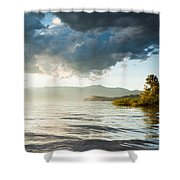 Sunset Over Lake Maggiore In Italy Shower Curtain