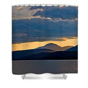 Sunset Over Lake Pend Oreille Shower Curtain