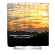 Sunset Over Lake Wohlford Shower Curtain