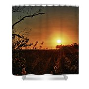 Sunset Over Little Lagoon Bayou Shower Curtain