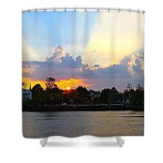 Sunset Over Mauricetown  Shower Curtain