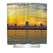 Sunset Over Milwaukee Shower Curtain