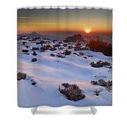 sunset over National park Sierra Nevada Shower Curtain