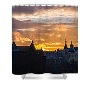 Sunset Over Old Moscow - Featured 2 Shower Curtain