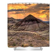Sunset Over Painted Hills In Oregon Shower Curtain