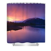 Sunset Over Resurrection River And Exit Shower Curtain