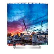 Sunset Over St. Paul Shower Curtain
