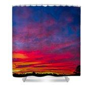 Sunset Over Swansea Tasmania Shower Curtain