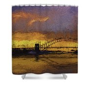 Sunset Over Sydney Harbour A Turneresque View Shower Curtain